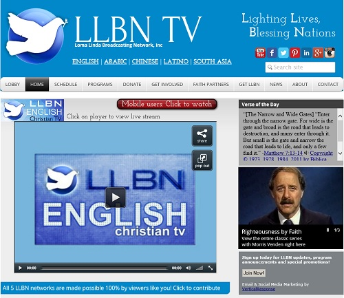 LLBN loma linda broadcasting network live videoverse