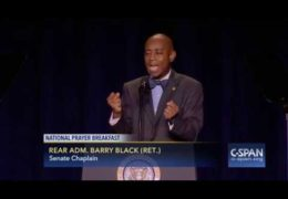 SDA U.S. Senate Chaplain Dr. Barry Black at National Prayer Breakfast